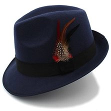 Big Brothers and Sisters Wholesalers Fedora Panama Hat Blue