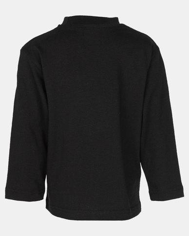 Phoenix & the Llama Sugar Skull Long Sleeve T Shirt Relaxed Fit Black