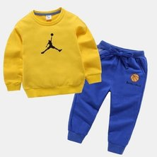 Boys are Kings Tracksuit Set Yellow blue