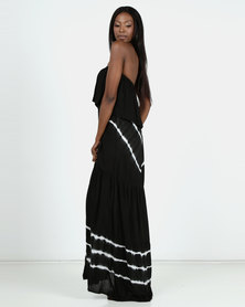 Allegoria Black Bandeau Maxi Dress
