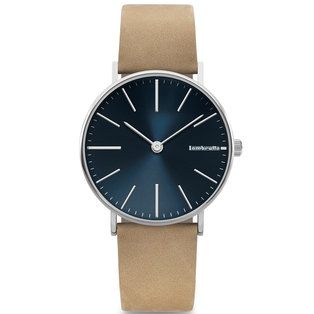 Lambretta Mens Watch With Blue Beige Suede