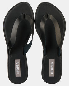 Utopia Leather Thong Sandal Black