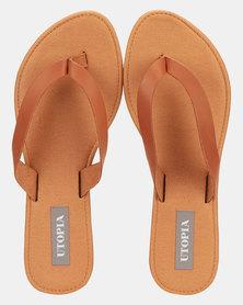 Utopia Leather Thong Sandal Tan