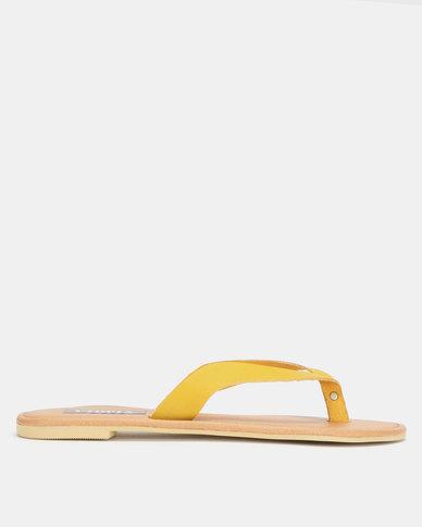 Utopia Leather Thong Sandal Mustard