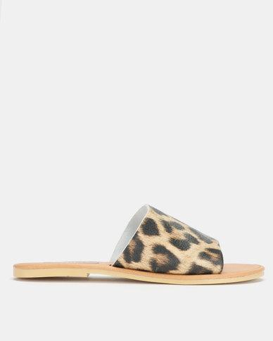 Utopia Leather Slides Leopard