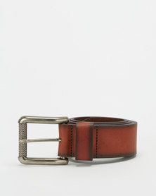 Saddler Belts 40mm Mens Genuine Leather Rustic Belt Brown