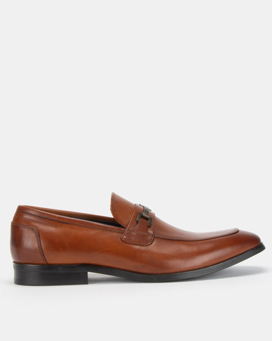 6f4bc084b29 Steve Madden Foothill Cognac Formal Slip On Shoes