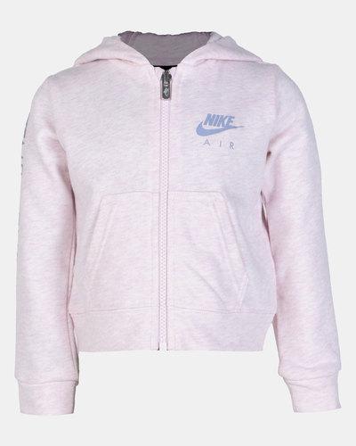 Nike Girls Air Full Zip Aluminium Heather | Zando