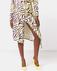 Ivyrevel High Slit Skirt  Purple/Yellow