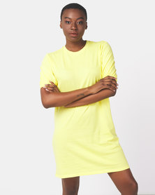Ivyrevel Puff Sleeve Ivy Tshirt Dress Yellow
