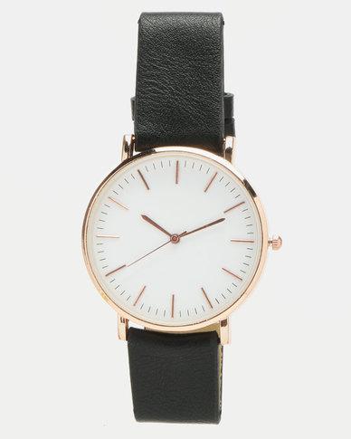 You & I Vintage Minimalist Watch Black