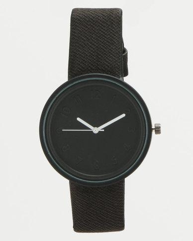 You & I Minimalist Sports Lux Watch Black Mono