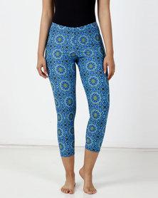 Sun Things Blue Mandala Leggings
