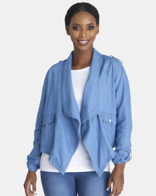 Contempo Waterfall Denim Jacket Blue