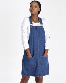 Contempo Denim Pinofore Blue