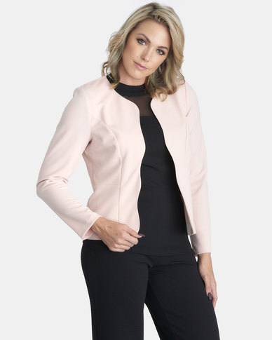 Contempo Pink Scalloped Jacket