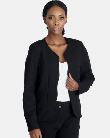 Contempo Black Scalloped Jacket