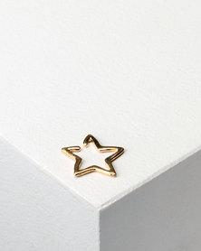 Utopia Single Star Earring Gold-tone