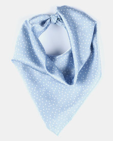 Utopia Small Spotted Light Blue& White Scarf