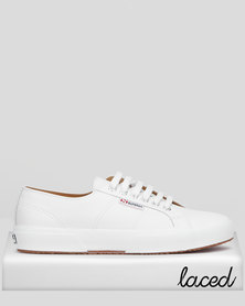 Superga Classic Nappa Leather Lo Sneakers White