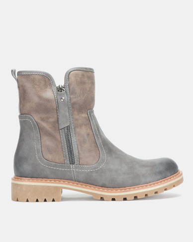 Dakotas Short Boots Grey