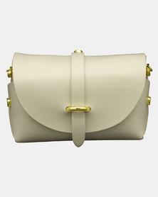 Casa Di Cincanra Melania Mini Leather Handbag Beige