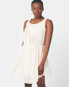 Vero Moda Berry Solid Dress Beige