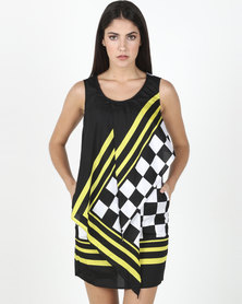 Only Yellow/Black Cindy Dress