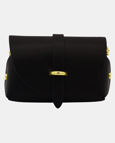 Casa Di Cincanra Melania Mini Leather Handbag Black