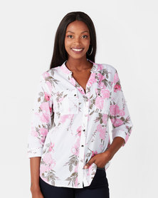 Queenspark Cotton Voile Woven Shirt Pink Rose