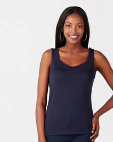 Queenspark Casual Core Knit Cami Navy