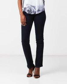 Queenspark Bootleg Denim Woven Jeans Indigo