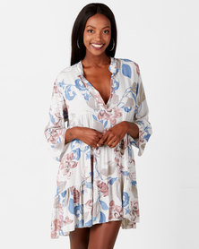 Queenspark Private Label Stone Floral Print Woven Tunic