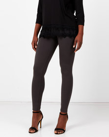 Queenspark Private Label Knitted Long Leggings Charcoal