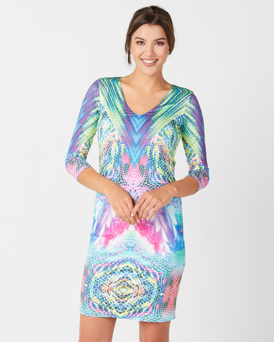 cath.nic By Queenspark Catherine Bodycon Knit Dress Multi