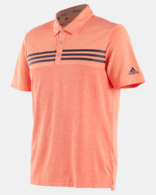 HEATHER BLOCKED POLO SHIRT