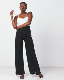 Legit Colourblock Hi Slit Jumpsuit Black/ White