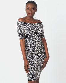 Legit Animal Print Bodycon Dress Multi