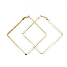 We Heart This Large Gold Square Hoop Earrings