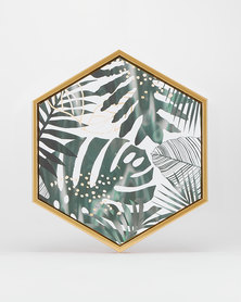 Utopia Monster Leaf Hexagon Canvas Green