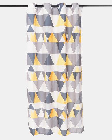 Orange Geo Curtain by Utopia