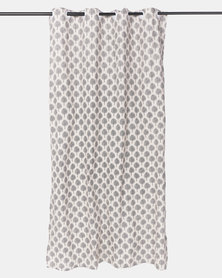 White Tree Print Curtain by Utopia