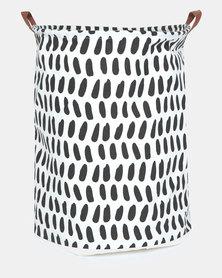 Utopia Oblong Print Basket Black/White