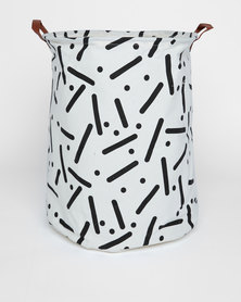 Utopia Lines And Dots Basket White