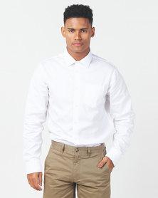 JCrew Dobby Design Shirt White