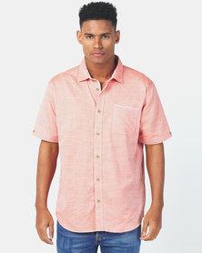 JCrew Slub Fancy Shirt Orange