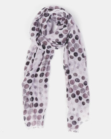 Queenspark Multi Spot With Sequins Scarf Black
