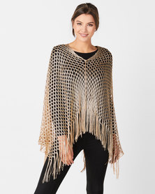 Queenspark Glam Poncho Gold