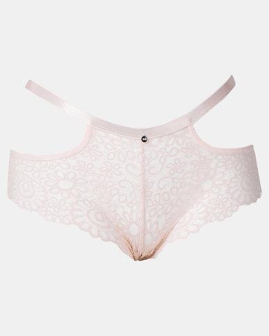 Sissy Boy All Over Lace Boyleg Panty Dusty Pink