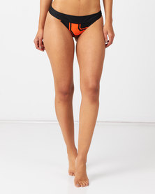 Sissy Boy Tie Side Tanga Bikini Bottoms with Tassel Detail Stripe Multi